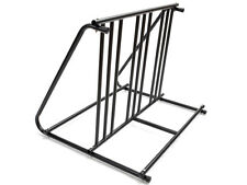 6 Bikes Floor Mount Parking HD Steel Rack Storage Bicycle Yard Outdoor Stand