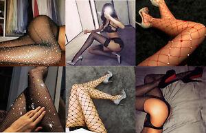 Women's Black glitering sexy Fishnet tights pantyhose hosiery halloween UK