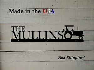 Tractor Name Sign, Last Name, Farm Sign, Business Decor, Christmas Gift, S1043
