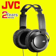 JVC HA-RX330 Completo Tamaño Extra Bass Stereo Overhead Auriculares Dj Cable de 2.5M Negro