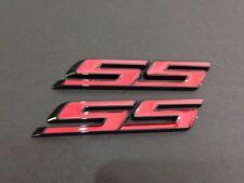 SS Letter Grille Fender Lid Trunk Emblem Badge for Camaro Impala 2010-2015 -2PCS