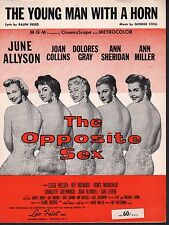The Young Man With A Horn June Allyson Joan Collins The Opposite Sex Sheet Music