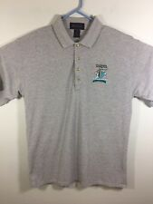 Antigua Vintage Men Short Sleeve Polo Medium Florida Marlins Champions Grey 1997