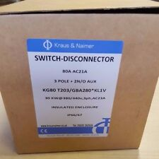 New Kraus & Naimer KG80 T203/GBA280*KL1V Switch Disconnector 3P 30KW