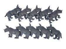 10 x Rinoceronte aufstellfigur miniblings Animal 6cm Africano Rinoceronte Gris