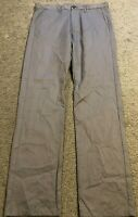 CALVIN KLEIN ck Body Fit Gray Flat Front Casual Chino Pants mens 31x32 31 x 32