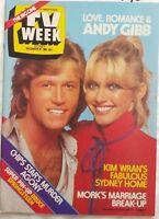 TV Week 1980 Dec~Olivia & Andy Gibb,Bruce Springsteen,Young Doctors,Karen Pini