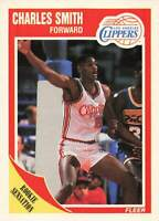 1989-90 Fleer Los Angeles Clippers Basketball Card #73 Charles Smith Rookie