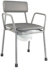 Aidapt Kent Lightweight Stacking Commode Chair - Grey