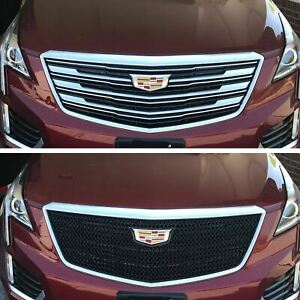 Black Horse 2017-2019 Cadillac XT5 Overlay Grille Trims Gloss Black