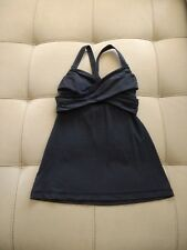 lululemon Wrap It Up Tank Push-Up Style Shelf Bra Black XS 4