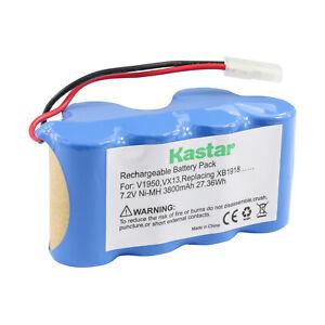 Kastar 3800mAh Battery for Euro Pro Shark XB1918 V1917 V1950 VX3 Vacuum Sweeper