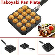 16-Holes Takoyaki Pan Plate Tray Kitchen Cooking Baking Mold Octopus Ball Maker