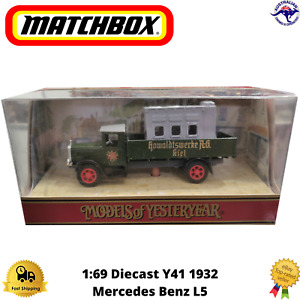 Diecast Model Lorry Y41 1932 1:69 Mercedes Benz-L5 Matchbox Models of Yesteryear