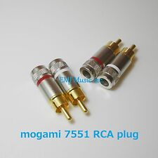 mogami 7551 RCA connectors 4 pairs (red&white) Made in Japan New Genuine F/S