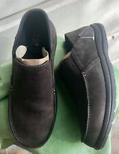 Crocs Mens Santa Cruz Convertible Leather Slip on Espresso/Espresso Sz 9 Samples