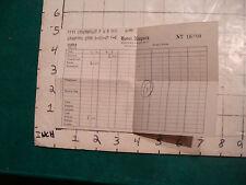 Vintage paper: Receipt: HOTEL NIAGARA 1940, receipt 6.00 room