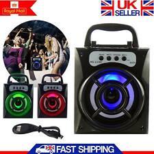 Altavoz Estéreo Portátil Bluetooth Inalámbrico Al Aire Libre Super Bass USB/TF/FM Radio UK