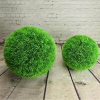 18-38cm Chic Artifical Plastic Green Grass Ball Plant Hanging Garland Home Decor