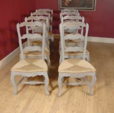 Painted Ladderback Chair & Kitchen Refectory Table Set