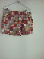 J. Crew Women's City Fit Red, Pink, Green, Blue mini /  shorts Sz 6