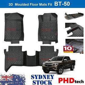 3D TPE All Weathe Floor Mats Liner fit Mazda BT-50 Dual Cab 2012 - 2020 BT50