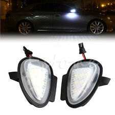 Direct Fit White LED Under Side Mirror Puddle Lights For VW GTi Golf MK6 6 MKVI
