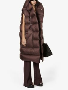 Rick Owens 100% Genuine Gorgeous Shell-Down Vest Coat UK 10 RRP £1340 NEW W/Tags