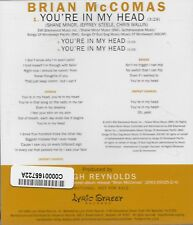 You're In My Head [Promo Single] by Brian McComas (Cd 2003) [3 trk]