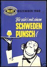 Programmheft, Friedrichstadtpalast Berlin, Wie wär's mit einem Schweden..., 1960