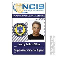 Plastic ID Card (TV & FILM Prop) - Agent Leeroy Jethro Gibbs NCIS Fancy Dress
