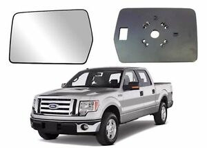 04-12 Ford F150 Replacement Side Mirror Glass Driver's Left w Backing Mount