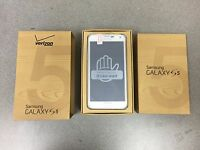 BRAND NEW Samsung Galaxy S5 SM-G900V - 16GB - White (Unlocked) Verizon w/ gifts