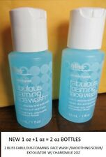 2 BLISS FABULOUS FOAMING  FACE WASH /SMOOTHING SCRUB/ EXFOLIATOR  W/ CHAMOMILE