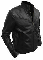 Men's Vin Diesel Classic Fashion Fast And Furious 6 Black Leather Jacket