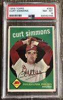 1959 Topps - CURT SIMMONS #382 - GRADED PSA 8 🔥🔥