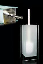 WC Garnitur WENKO CATANIA Glas & Edelstahl gefrostet Toilettenbürste Klobürste