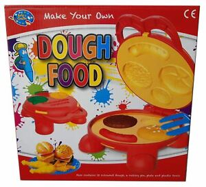 Childrens Make Your Own Dough Food Burger Pretend Play Set Kids Toy (3 Years+)