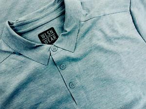 Nwt WLSN Wear Wilson Men's Polo Medium M Gray