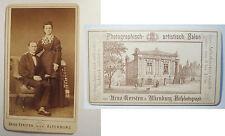 Altenburg-per 1873-COPPIA-Portrait + fantastiche Retro/CDV