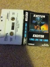 exciter long live the loud 1985 combat records  cassette thrash metal
