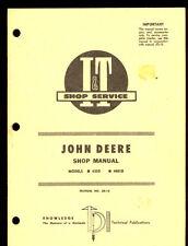 John Deere It Shop Manual Tractor Series 435D / 4401D / Jd-18