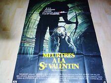 MEURTRES A LA St VALENTIN ! affiche cinema horreur saint valentin