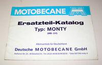 Ersatzteil-Katalog / Teile-Liste  Motobecane Mofa MONTY MB-3V  - Ausgabe 1977