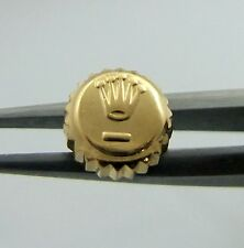 18K Yellow Gold Rolex Watch Crown 6MM Datejust Oyster Part  1601 16013
