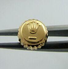 18K Yellow Gold Rolex Watch Crown 6MM Datejust Oyster Part  1601 16013