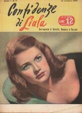 CONFIDENZE di LIALA 11/1946 Nancy Guild, Jennifer Jones, Joan Fontaine