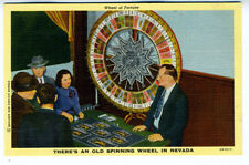 1930s Postcard Wheel of Fortune in Nevada