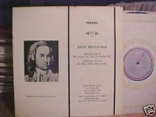 WOLFGANG GONNENWEIN LP BACH CANTATAS STEREO NEAR MINT