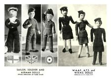 Vintage Knitting Patterns WW2 Army, Navy, Air Force, WAAF, WRNs, ATS Toys/Dolls